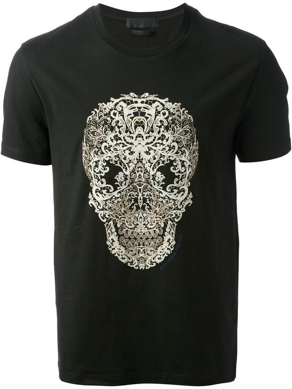 Skull hot selling summer man t shirt round collar short for Good quality mens dress shirts