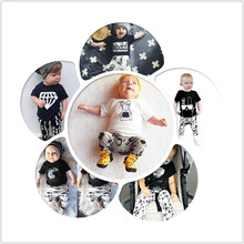 2016 Summer Baby Boy Clothes Sets Infant Clothes Sets Boy Cotton Fashion Short sleeve Tops+Pants 2pcs Newborn Baby Girl Clothing
