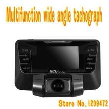 Multifunction GPS digital tachograph with Dual Lens good WDR night vision 180 degree rotation tachograph for free shipping