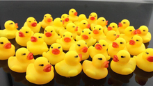 Free Shipping 10Pcs/Bag Baby Kid Cute Bath Rubber Ducks Children Squeaky Ducky Water Play Toy