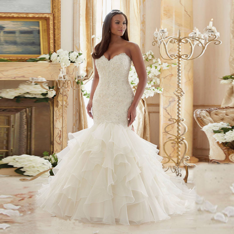 Popular plus size wedding dresses mermaid style buy cheap for Plus size wedding dresses mermaid style