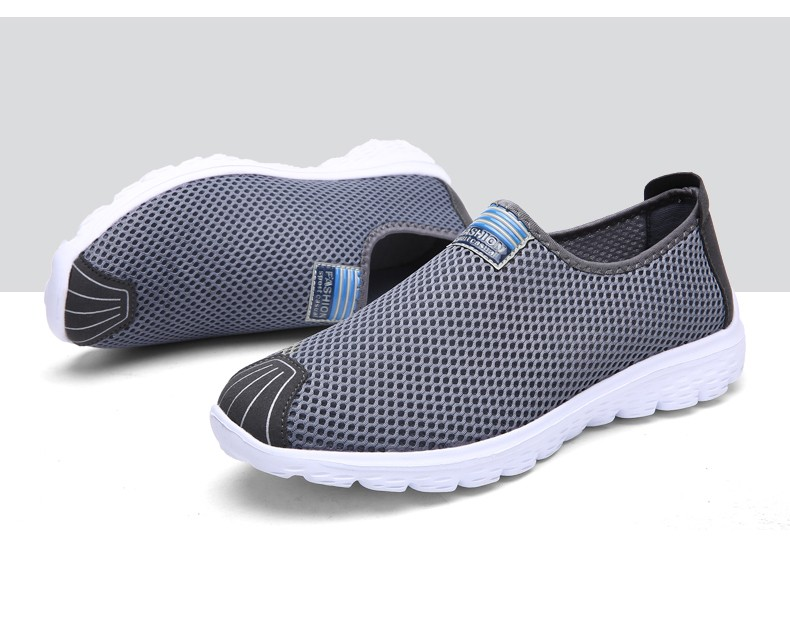 Aleader Mens Breathable Running Shoes New 2016 Summer Training Sneakers Women Lightweight Mesh Shoes Slip On Men Water Shoes