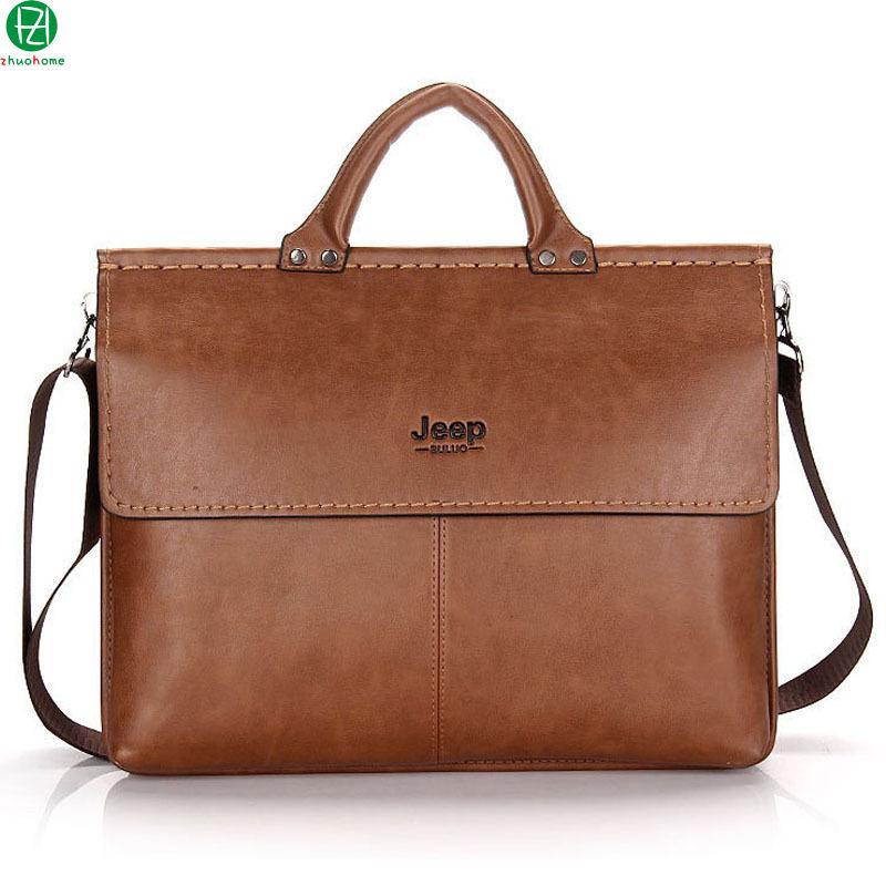 brand men leather briefcase high quality business man handbag vintage men messenger Laptop bag casual men shoulder bag 2 colors(China (Mainland))