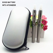 Double EVOD MT3 Electronic Cigarette Kits MT3 EVOD e-cigarette kits 650 900 1100mah MT3 Atomizer EVOD Battery with Zipper Case