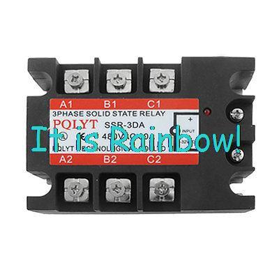Free Shipping DC to AC Three 3 Phase Solid State Relay SSR 60A 3-32V DC 480V AC<br><br>Aliexpress