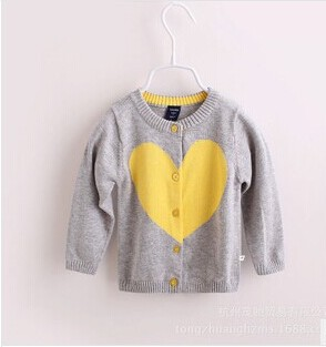 High quality Childrens sweater new 2014 autumn Baby sweater boy girl cardigan girl boy knitted sweater shrit Love Long Sleeve<br><br>Aliexpress
