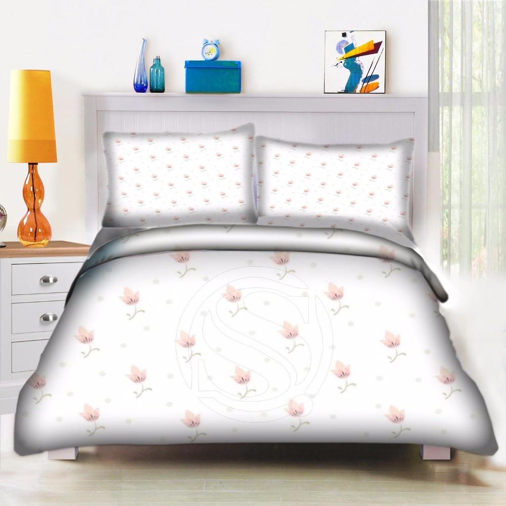 Custom Flower Pattern 2 Home Textile Bedding Set Bed