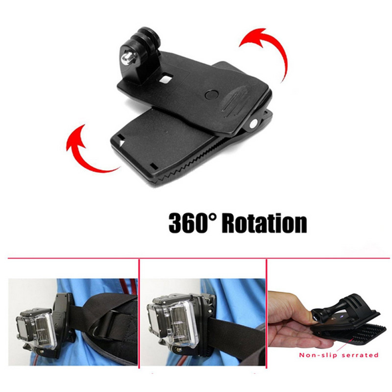 Outdoor Sports Kit Gopro Accessories For All Gopro Hero 4/3+/3/2/1 Black Xiaomi yi SJCAM Sj4000 Sj5000 Sj6000 Sports Camera