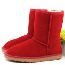 Mới Nhất Giữa Bắp Chân Đáng Yêu Ngọt Ngào Màu Sắc Giày Boot Da Thật Chính Hãng Da Ủng Chất Lượng Sang Trọng Giày Nam Nữ Phẳng Ấm Áp giày(China)