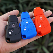 Buy Silicone Rubber Key Fob Case Cover Protect holder shell Mercedes Benz B C E ML S CLK CL Two 2 buttons keyless Remote repair for $2.13 in AliExpress store