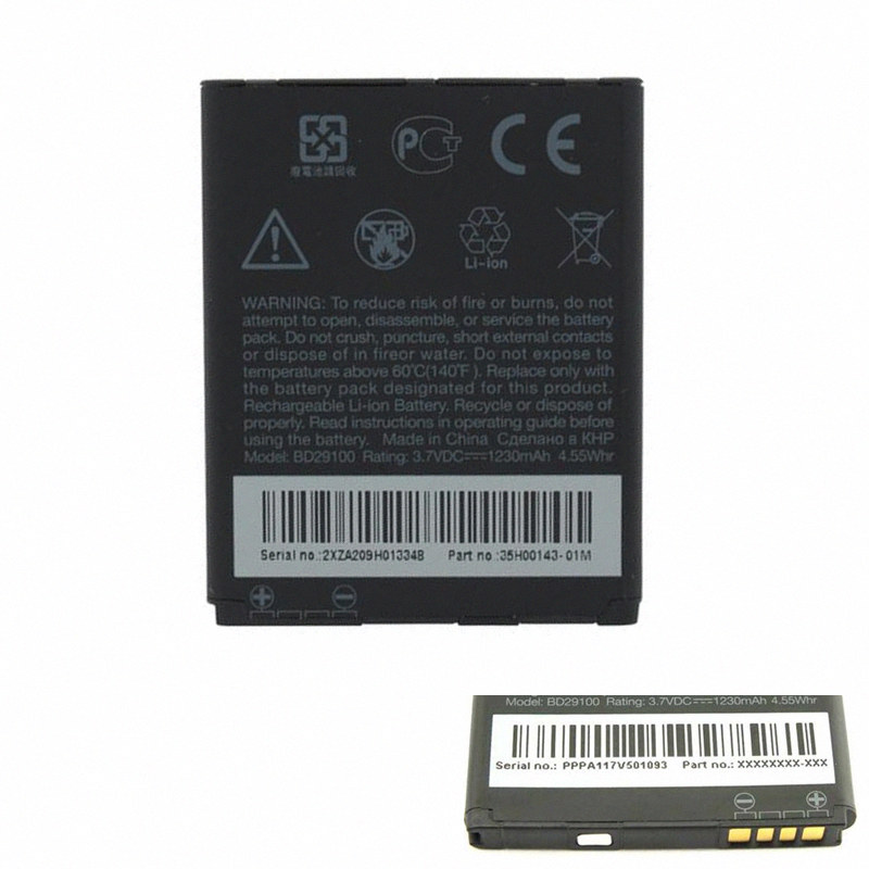 For HTC G13 Wildfire S A510e A510C T9292 HD3 HD3s HD7 PG76100 T9292 Original BD29100 Battery Mobile Phone(China (Mainland))
