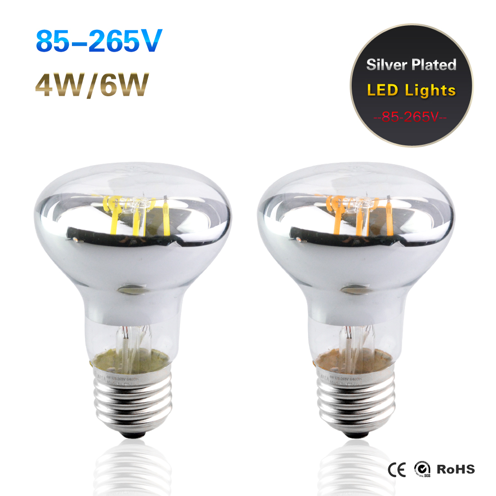 Foxanon E27 LED Filament Bulb 85-265V Globally applicable Real Power 4W 6W Edison LED Lamp Replace Incandescent For Pendant lamp(China (Mainland))