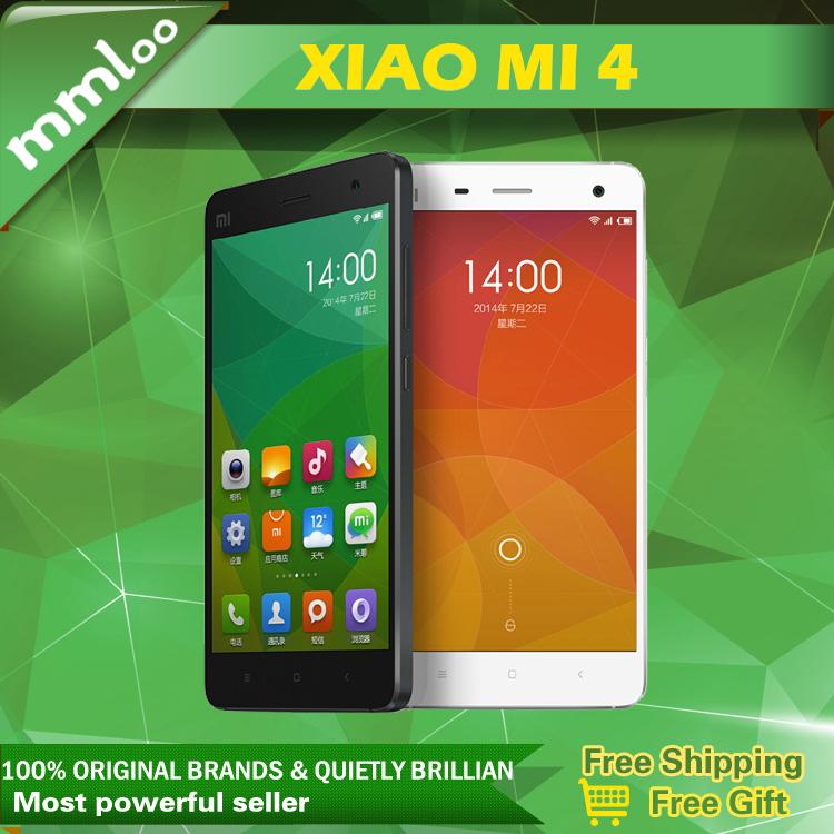 "Original Xiaomi mi4 M4 Mi 4 4G LTE 5.0"" 1920x1080 Quad Core Qualcomm 801 Mobile Phone 13MP 3GB RAM 16GB ROM GPS OTG Cell phone(China (Mainland))"