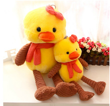 45cm One Piece New Cute Design Yellow Duck Big Bow With Scarf Girl's Birthday Gift(China (Mainland))