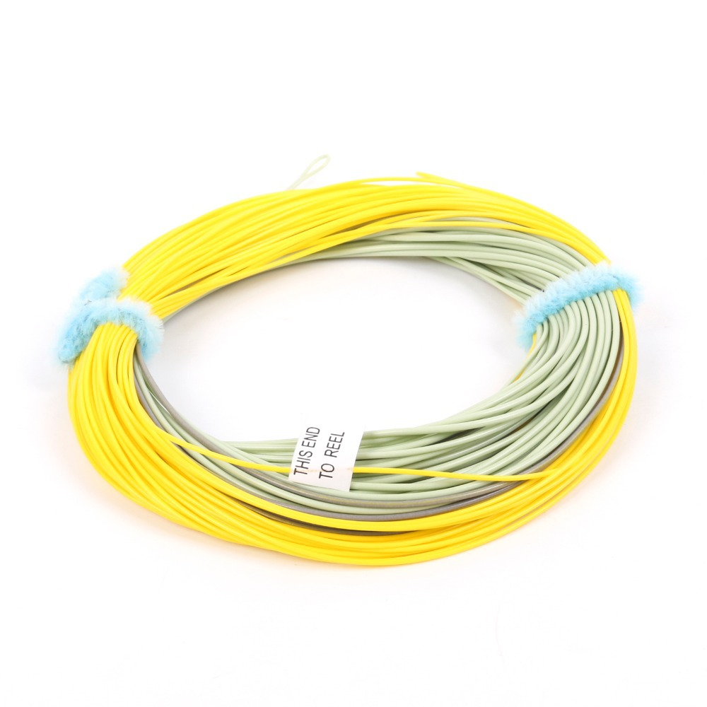 Maximumcatch New Real Gold Weight Forward Floating Line With 2 Welded Loops 90FT 5WT Moss/Gray/Gold Floating Fly Line(China (Mainland))