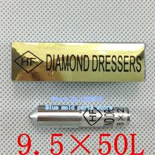 Por tiempo limitado Furadeira papel de lija herramienta rotativa diámetro 9.5 mm longitud Total 50 mm Diamond Dresser Pen cabeza de diamantes naturales