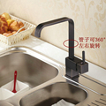 Free Shipping Kitchen Faucet l kitchen Sink Mixer Tap Black kitchen faucet Cold hot water kitchen