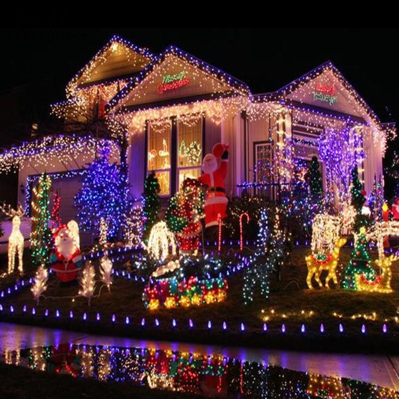 Outdoor Christmas Decoration Manufacturers : Aliexpress buy us eu plug led outdoor net mesh