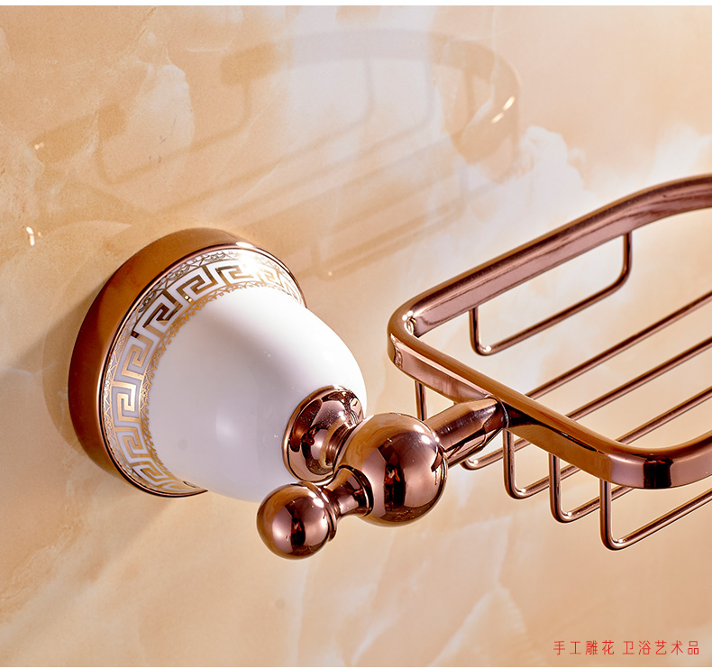 Strongest design bathroom accessories bathroom soap dish for Rose gold bathroom accessories sets