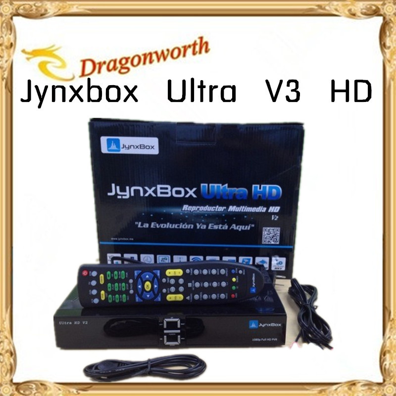 2pcs/lot Ultra HD Satellite TV Receiver Jynxbox V3+Free JB200 Module +8PSK+TURBO + Wifi Dongle for North America Supp ATSC Tuner(China (Mainland))
