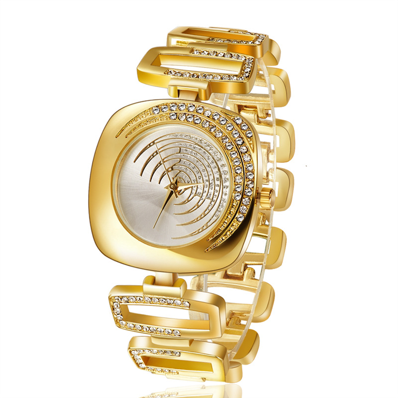 Women fashion watch new design rhinestone stainless steel watches hot sale female ladies major wristwatches feminino relogios(China (Mainland))