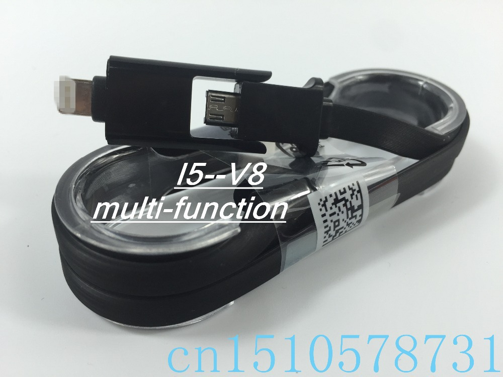 Multi-function data line 1m Flat Noodle Colorful Sync Data Charging Charger Adapter USB Cable iPhone 5 v8 s3s4 - cn1510578731 store