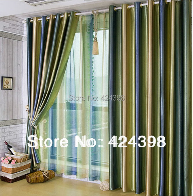 morden luxury stripe curtain for living room bedroom set of curtains