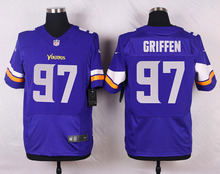 HOT Elite men Minnesota Vikings Everson Griffen Cordarrelle Patterson Kyle Rudolph Anthony Barr Adrian Peterson D-4(China (Mainland))