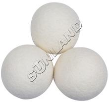 Sinland 3 Pieces XL Premium 100% Wool Dryer Balls, Reusable Natural Fabric Softener(China (Mainland))
