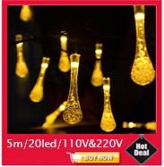 Hot Selling LED Christmas Lights 10m 50 Led AC 110V 220V Led String Light luminaria garland Tree Outdoor Decoration,1pc/Lot