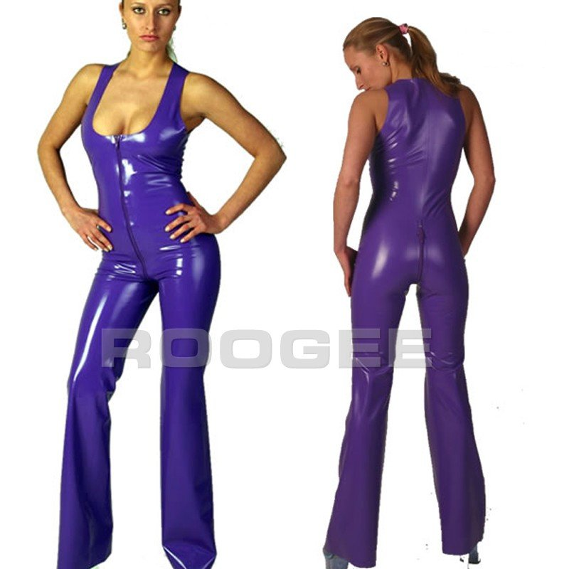 hot 1PC slim latex costume