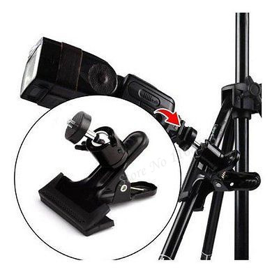 Clip Clamp Holder Mount Sturdy Clamp with Ball Head Adjustable Shoe Fits Speedlight Flash Stand Adapter