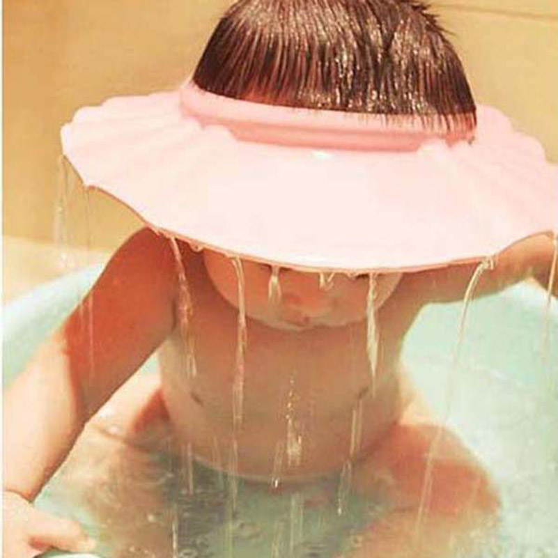 1Pcs Safe Shampoo Shower Bathing Bath Protect Soft Cap Hat For Baby Children Kids Soft EVA protect your baby(China (Mainland))