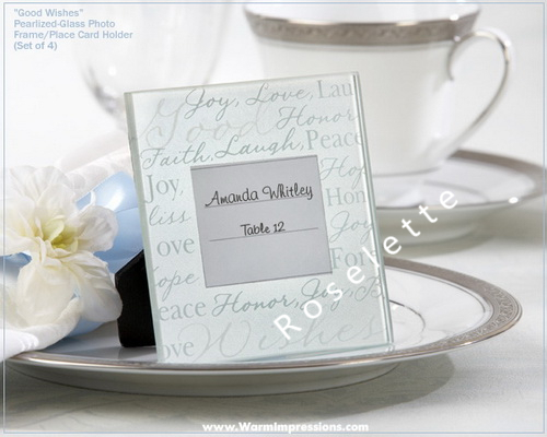 Good Wishes Glass Frame Place Card Holder Wedding Party Accessories (Set of 12 Pieces)(China (Mainland))
