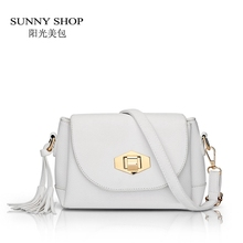 SUNNY SHOP Small Tassel Women Messenger Bags Cute Girls Crossbody Bags Brand Designer Women Leather Handbags High Quality