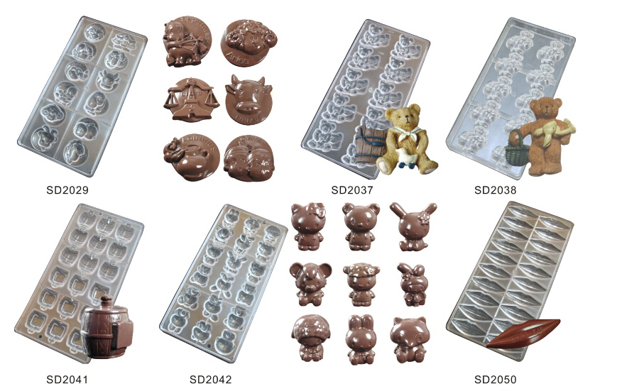 custom 3 pcs imported solid polycarbonate high quality best professional good nice chocolate mold mould supplier factory China(China (Mainland))