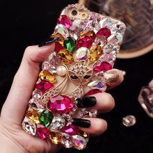 Buy 3D Rhinestones Hotfix Phone Cases HuaWei Honor 7i Jewelry Coque Fox Head Perfume Bottle N5 Decor Cover Pink Lady Shell Hot for $5.08 in AliExpress store