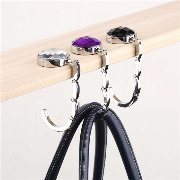 1pc Exquisite Folded Handbag Tote Hook Hanger Holder Elegant Alloy Crystal Rhinestone Wholesale Store(China (Mainland))