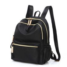 2019 Повседневное Оксфорд рюкзак женский, черный Водонепроницаемый нейлон школьные сумки для девочек-подростков высокое качество модная сум...(China)