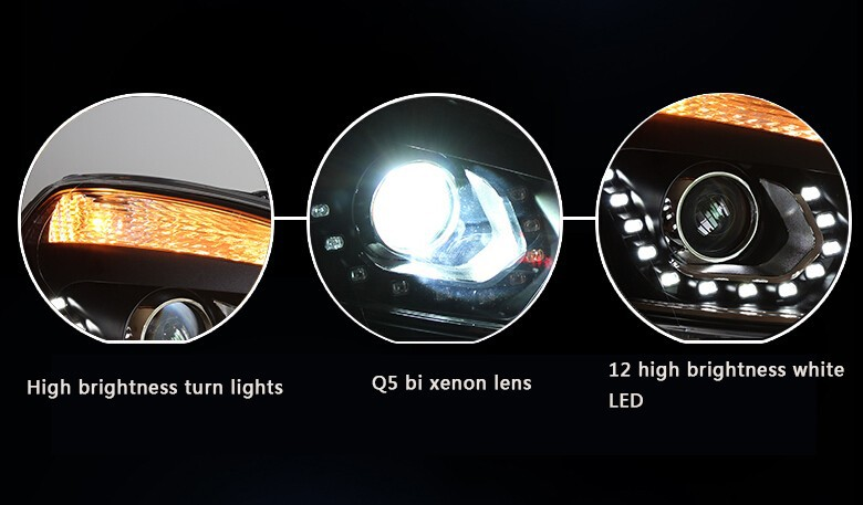 Auto Clud 2008-2013 qashqai headlight car styling qashqai head lamp12 high brightness LED DRL parking bi xenon lens H7 HID Kit