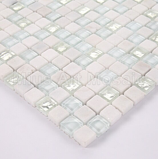[Mius Art Mosaic] Glossy  White  Glass mosaic silver mosaic  tile matt stone mosaic A5TC-1313<br><br>Aliexpress