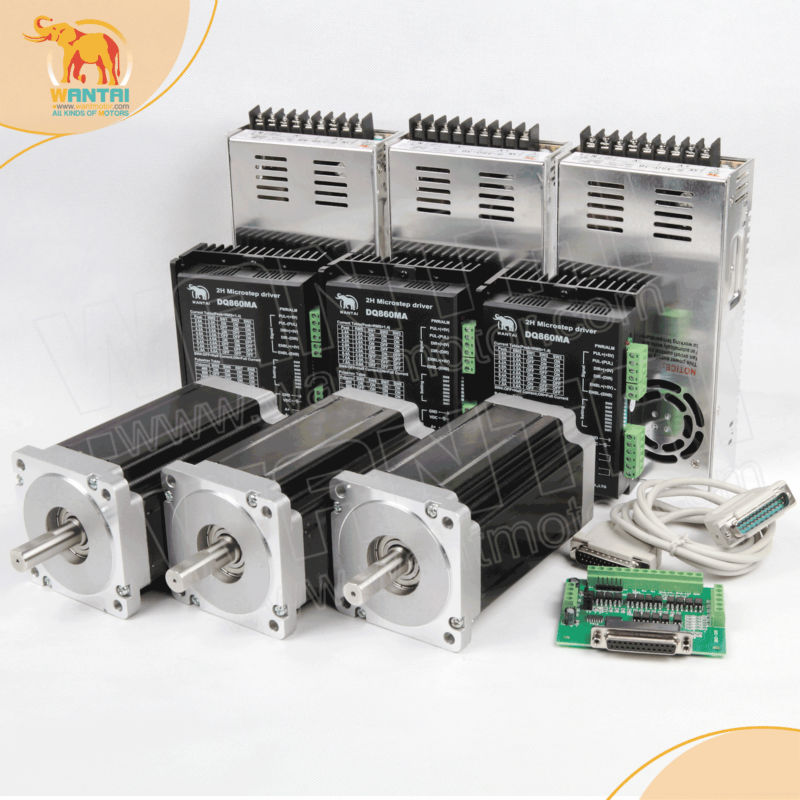 Best selling cnc router kits 3axis nema 34 stepper motor for Best router motor for cnc