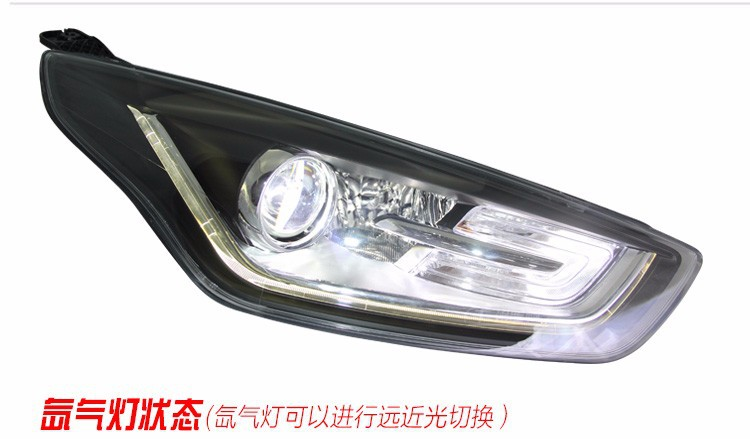 Car Styling LED Head Lamp for Ford Fusion headlights 2015 ESCORT led headlight drl turn signal drl H7 hid Bi-Xenon Lens low beam