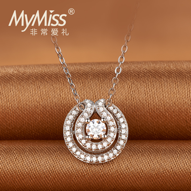 Mymiss OL short summer Necklace accessories business Zircon Pendant Chain clavicle female love in the water(China (Mainland))
