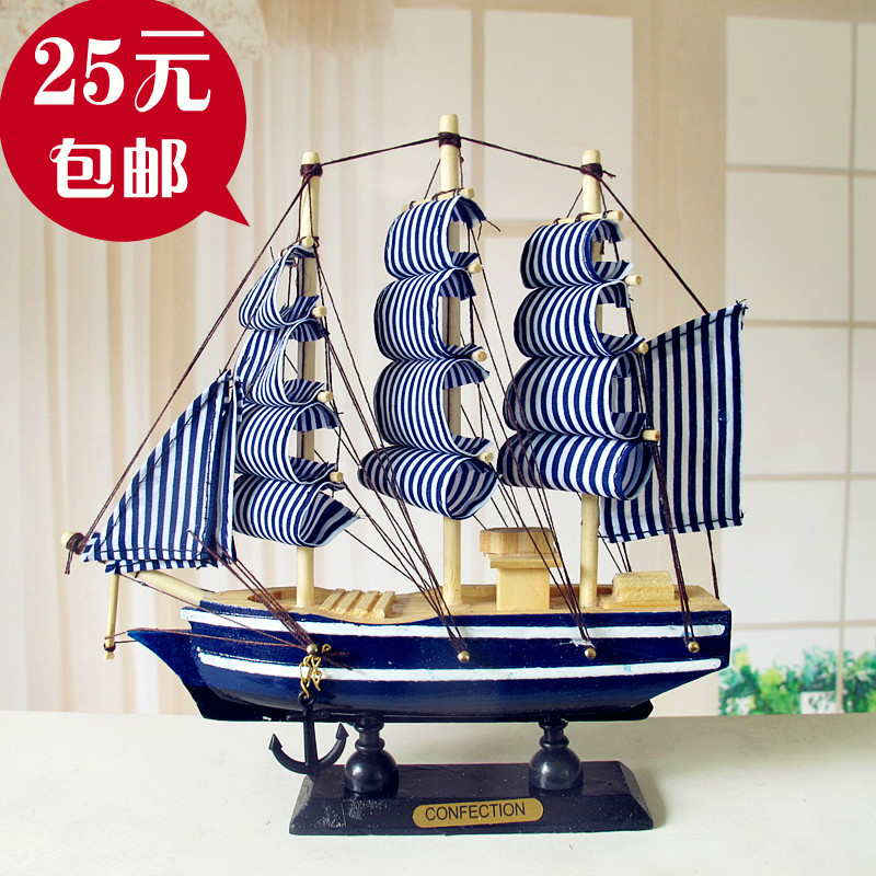 Modern hand made home decoration wooden sailing boat for Modern new home gifts
