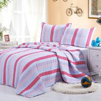 2015 hot sell 100%cotton kids strip design quilt