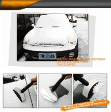 Mini Auto Car Vehicles Ice Scraper Snow shovel window ice removal cleaning Tool Stainless Steel anti-freezing rubber accessory(China (Mainland))