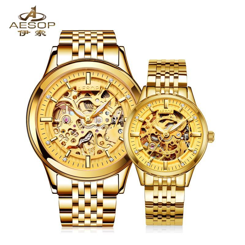 AESOP 9005 Switzerland watches men luxury brand genuine automatic mechanical hollow couples relogio masculino feminino<br><br>Aliexpress