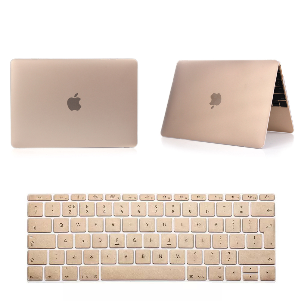Notebook Sleeve Laptop Case Frosted Matte Gold Champagne Pro 13 15 Air 11 13 Retina 13 15 Protective Shell For Macbook Cases(China (Mainland))