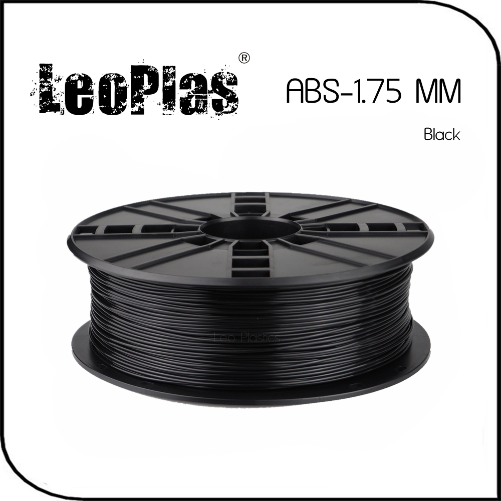 Worldwide Fast Express Within 7 Days Direct Manufacturer 3D Printer Material 1 kg 2.2 lb 1.75mm Black ABS Filament(China (Mainland))